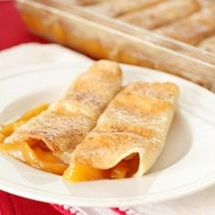 Something magical happens when soft, juicy peaches, butter, and sugar meet flour tortillas!