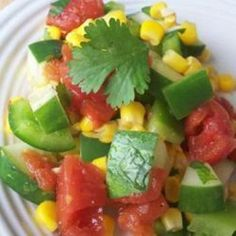 Mexican Cucumber Salad - to go with Blackened Tilapia