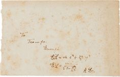 Early iteration (1905) of Einstein's E=mc(squared) signed by Albert Einstein himself.