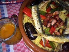 Migas de Almería con caldo de pescado