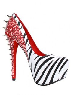 Red Spiked Heels | Shoes &amp Boots | Pinterest