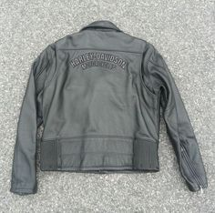 Men's Harley Davidson Leather Motorcycle Jacket size Large #HarleyDavidson