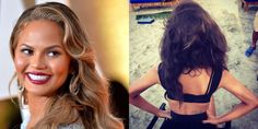 "Chrissy Teigen has gone dark! Just two days after the Academy Awards, the model teased the change when she Instagrammed herself in the salon chair with the caption, ""LOOK WHAT IS HAPPENING."" She posted the gorgeous results from the back later.   - ELLE.com"