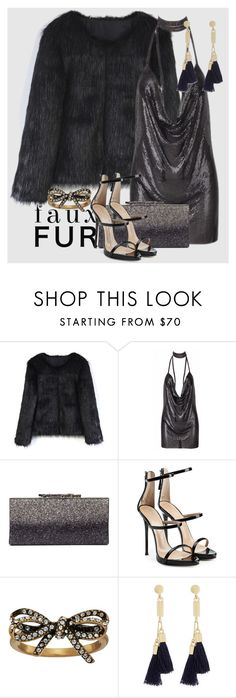 """""""Faux Fur Coats"""" by manuela-cdl ❤ liked on Polyvore featuring Chicwish, Giuseppe Zanotti, Marc Jacobs and Chloé"""