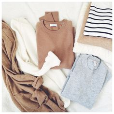 """""""With these overcast mornings I think it might be time to officially say hello to fall . It's the changing of the closet today . Some of these sweaters…"""""""