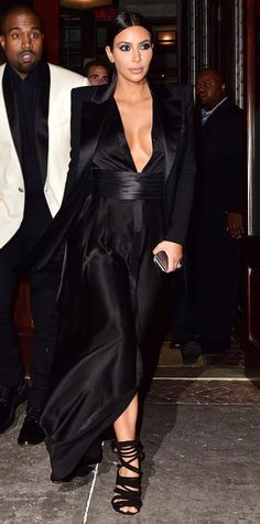 Look of the Day - January 10, 2015 - Kim Kardashian in Balmain from #InStyle