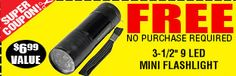 FREE Mini Flashlight from Harbor Freight Tools! Exp. 4/30 *No purchase required*