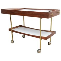 Mid Century Modern Cool Paul McCobb Bar Cart Server | From a unique collection of antique and modern dry bars at https://www.1stdibs.com/furniture/storage-case-pieces/dry-bars/