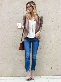 Street style tip of the day: Skinny jeans & peep toe booties - AOL