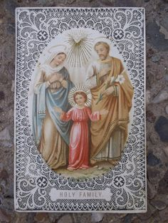 Holy Family A  Prayer Card 1901 by TimelessCuriosities on Etsy, $16.00