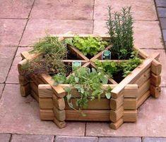 bac-fleurs-bois-DIY-forme-hexagone-herbes-aromatiques