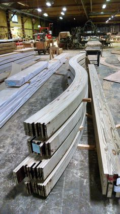 What Are These Squiggly Glulam Beams? | Wood Times Blog They are headed for the Sidney, NY Veteran's Memorial. We are super proud to be apart of our local community and support our veterans.
