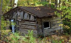 MAINE TRAPPERS CABIN deep in Maine Woods Used During the Winter Beaver Trapping Season, known as a trapper's Line Camp