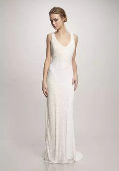 THEIA Caitlin Sheath Wedding Dress Luxe Wedding aa850122b