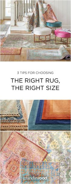 It's challenging to decide which rug you want–we plead guilty to offering hundreds of styles. Even tougher decision: figuring out the size of the rug you'll need. We can help. Click for our Rug Buying Guide...