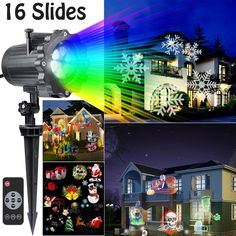 Hottly Led Christmas Light Projector - 2017 Newest Version Bright Led Landscape Spotlight with 16 Slides Dynamic Lighting Landscape Led Projector Light Show for Halloween, Party, Holiday Decoration         -- Check out the image by visiting the link. (This is an affiliate link) #PatioLawnGarden