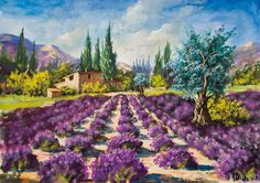 acrylique paysages de provence - Recherche Google