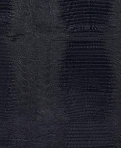 Modern Faux Crocodile Skin In Textured Onyx Black Fabric