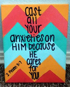 Scripture Canvas on Etsy Click the link for more canvases similar to this one and comment any custom orders you have!