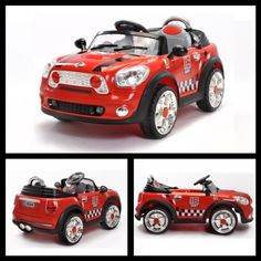 Stylish 6v Mini Cooper Style Electric Ride on Car in Red with a Parental Remote Control. Mini Cooper http://www.amazon.co.uk/dp/B008N8DSAU/ref=cm_sw_r_pi_dp_q9LCub0T0YQP2