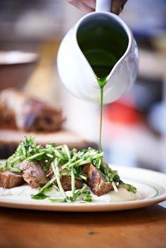 Al Brown's Seared Pork Loin with Apple Salsa Verde