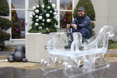 Sleigh Ice Carving