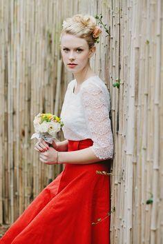 Stunning Pop of Color | Modest Bridesmaids
