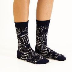 """Flow"" Unisex Socks by BALLONET | Size: 36-40 (women) & 41-46 (men) | Composition: 85% Combed Cotton, 13% Polyamide, 2% Elastane | SOURCE: http://www.ballonet.net/products/flow"