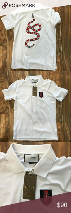 Gucci Polo shirt New Size Xl fits like L Fast USPS priority shipping Gucci Shirts Polos