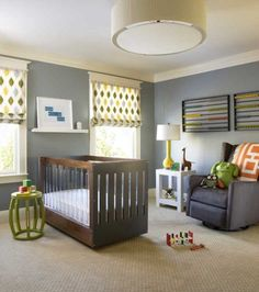 nursery, boy nursery, dark wood crib