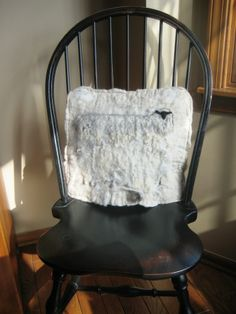 textured wool felt pillow by sheepy hollow