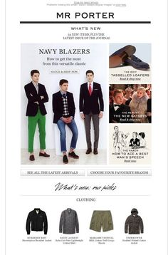 New items, navy blazers & the modern Gatsbys
