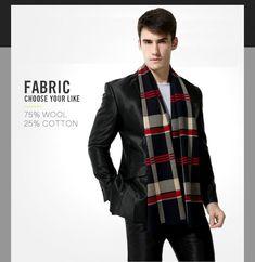 New Design Men Scarf Warm Luxury Scarves 2017 Fashion Casual Plaid Wool Man Wrap #mensfashion #menswear #winterfashion