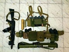 Belt and chest rig by High Speed Gear AK 104 with Zenitco flash light Yarigin pistol in caidex holster(custom one) , he will have Bravo Concealment Holsters holster soon. Grenades - RGD-5 Grenadelauncher - RshG-2 Mags - steel ak47 and Izmash 103\4 Smokes.