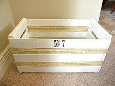 DIY crate blanket storage