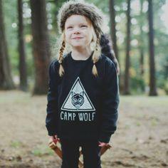 Camp Wolf Logo Crew Sweatshirt