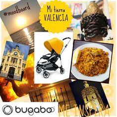 """Moodboard """"Bugaboo Bee me inspira a mi tierra :Valencia"""" de @nick chicola LOS SEUÑOS DESPIERTAN El blog de la grula para #quieroserembajador #atodocolor #bugabooespana @BugabooES @Madresfera"""