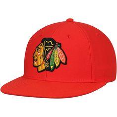 7daa14e9b68 Men s Chicago Blackhawks adidas Red Basic Fitted Hat