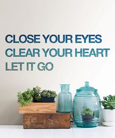 Another great find on #zulily! Let it Go Peel & Stick Wall Quote Set by WallPops! #zulilyfinds