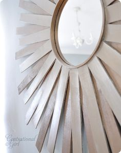 paintstick starburst mirror - I would spraypaint the sticks first for a pop and to tie in any room colors!