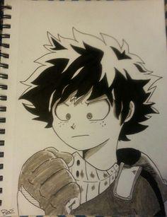 Izuku Midoriya drawing