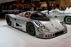 Paris - Retromobile 2014 - Sauber-Mercedes C9 - 1989 Le Mans, Mercedes Benz, Automobile, Silver Car, Classic Race Cars, Car Tuning, Bmw, Car Humor, Car Photos