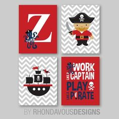 Baby Boy Nursery Art Print  Boy Bedroom Art  Pirate Nursery Art  Pirate Bedroom Art  Pirate Decor  Chevron Gray Black Red (NS-719) Pirate Nursery, Pirate Bedroom, Star Wars Nursery, Nursery Art, Baby Boys, Star Wars Kindergarten, Blue Green Nursery, Pirate Decor, Baby Boy Room Decor