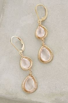 Rosebud Quartz Drops - anthropologie.com #anthroregistry