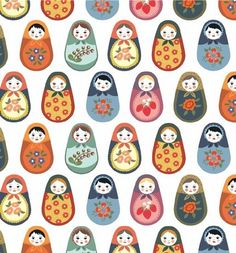 Items similar to Pocket Mirror Matryoshka Russian Nesting Dolls - Bridesmaid Gift, Party Favor, Wedding Favor, Compact Mirror on Etsy Textures Patterns, Print Patterns, Fabric Patterns, Pattern Print, Paper Ribbon Bows, Matryoshka Doll, Illustration, Russian Art, Pattern Wallpaper