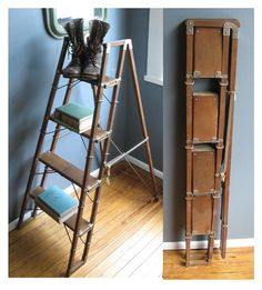 Library Ready! - Rare Vintage Folding Ladder - by RevivalSmith (Etsy- sold)