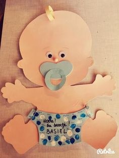 Hoera een Baby Moldes Para Baby Shower, Letter B, Craft Corner, Foam Crafts, Scrapbook Sketches, Baby Party, Craft Party, In Kindergarten, Doll Patterns