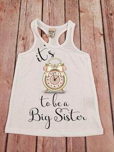 Big Sister Shirt Its Time to be a Big Sis Shirt Personalized Shirt Sibling…