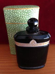 "Caron ""Nuit de Noel"" Black Baccarat Flacon Perfume Parfum Bottle & Box by MissGolightlysShop on Etsy https://www.etsy.com/listing/218121052/caron-nuit-de-noel-black-baccarat-flacon"