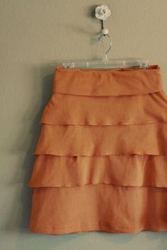 Knit skirt #tutorial with #ruffles by belphegor